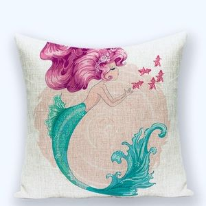 Mermaid Throw Pillow Covers Fairy Mermaids🧜🏽‍♀️